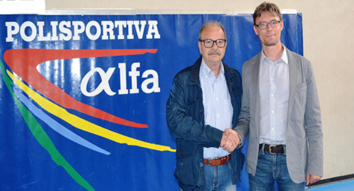 Nella foto Carmelo Carbone e Andrea Bianca, il nuovo coach