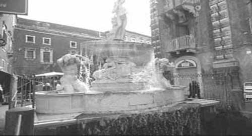 La Fontana dell'Amenano a Catania