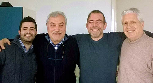Nella foto, da sinistra: Antonio Starrantino, Salvo Nicotra, Antonio Caruso e Orazio Indelicato