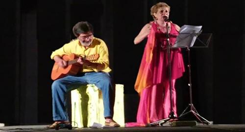 Nella foto Gianni Nicotra e Cinzia Caminiti in scena