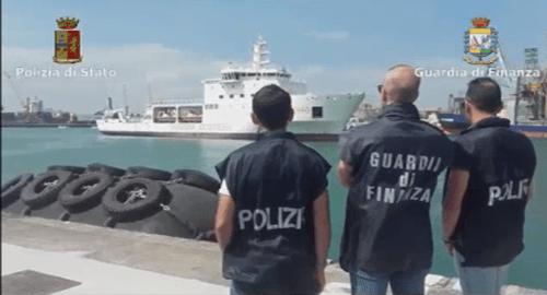 Polizia e Guardia di Finanza al Porto di Catania