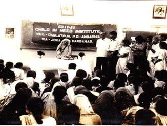 Madre Teresa in  visita al centro CINI 1985