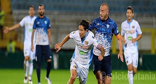 Marco Biagianti in campo contro il Matera (Foto Calciocatania)