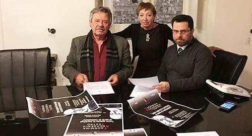 Nella foto Giancarlo Zanetti, Simona Celi e Mario D'Agostino